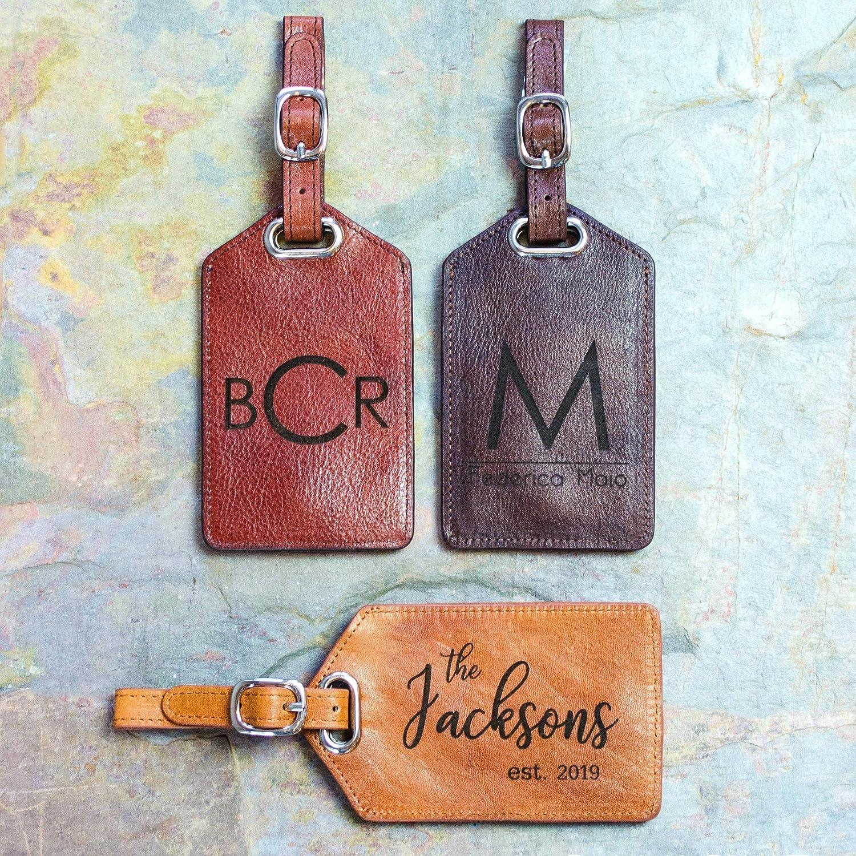 Monogram Gift-Travel Gift-Graduation Gift-Wedding Gift-Couple Gift Set of 2 Monogram Luggage Tags Personalized Bag Tags