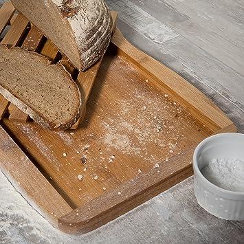Compra Levivo Tabla para Cortar Pan de Bambú - Tabla de Pan con ...