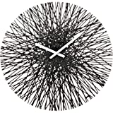 koziol SILK Quartz wall clock Circle Black - wall clocks (Black, 448 mm, 35 mm, 448 mm)