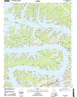 Ozark Mountains Topographic Map.Lake Of The Ozarks Missouri The Seeger Map Company Inc