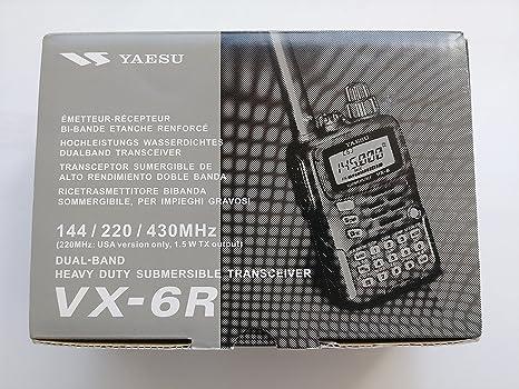 Tri-Band Yaesu VX-6R Submersible Amateur Ham Radio: Amazon