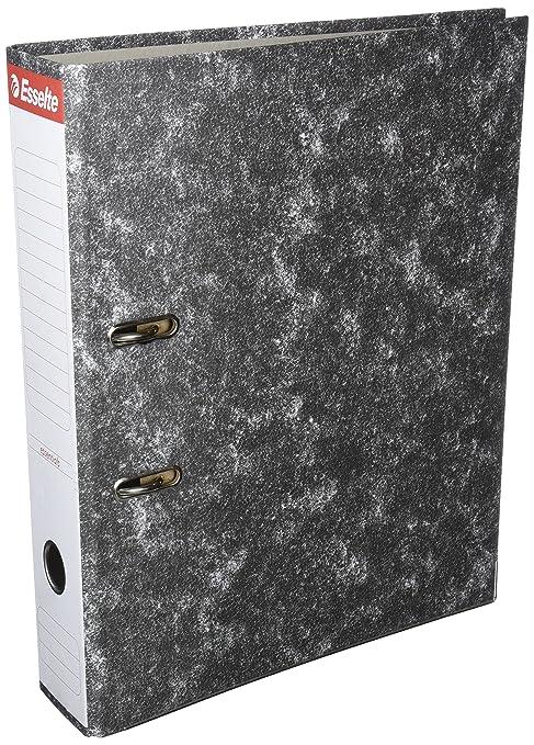 Esselte 46957 - Archivador de palanca de cartón con lomo de 75 mm, color negro