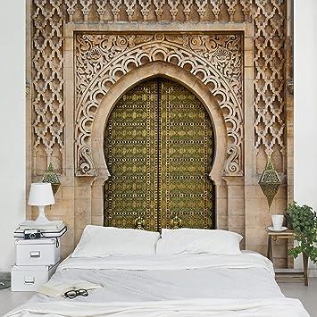 Fototapete | Steintapete Oriental Gate - Vliestapete Premium ... Fototapete Wohnzimmer Braun