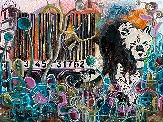 Der Code Banksy Tribut Original Street Art Malerei