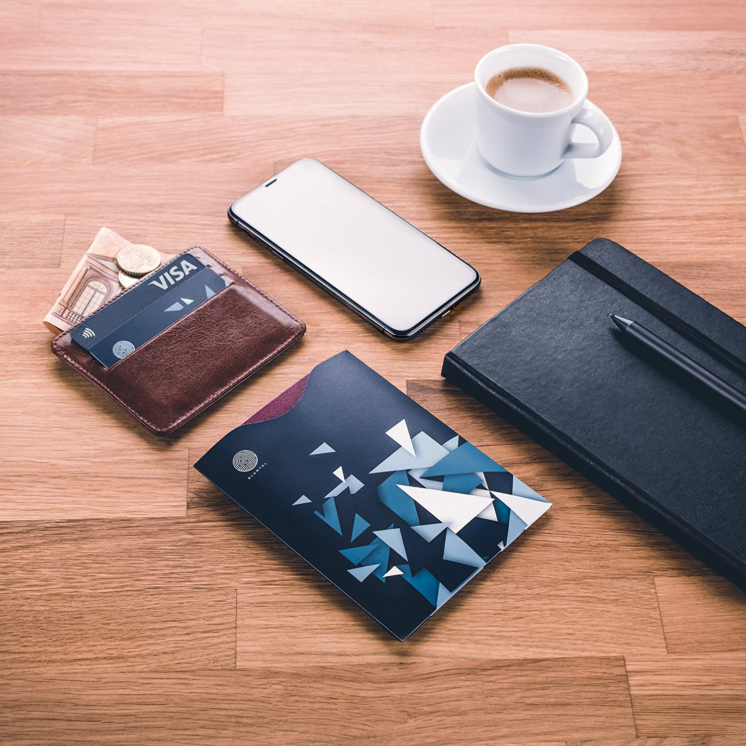 In Stylish Design Blumtal 2 RFID Card Protectors and 2 Additional Passport Covers Anti Theft Credit Card and Passport Protector