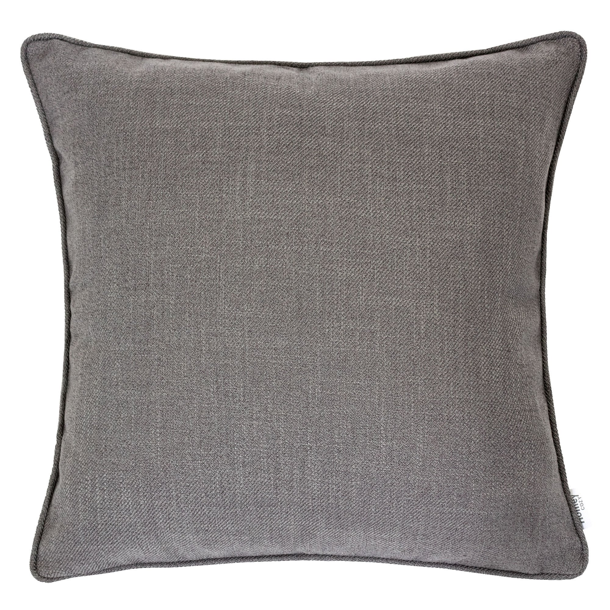 Homey Cozy Linen Textured Throw Pillow Cover,Linen Solid Series Gray Large Sofa Couch Decorative Pillow Case Western Home Decor 20x20, Cover Only