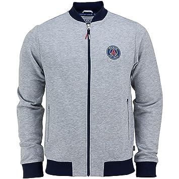 Paris Saint Germain - Chaqueta oficial para hombre, talla de adulto, con cremallera, Hombre, gris, XXL: Amazon.es: Deportes y aire libre