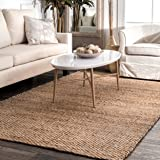 nuLOOM ON01A Handwoven Hailey Jute Rug, 5' x 8', Natural