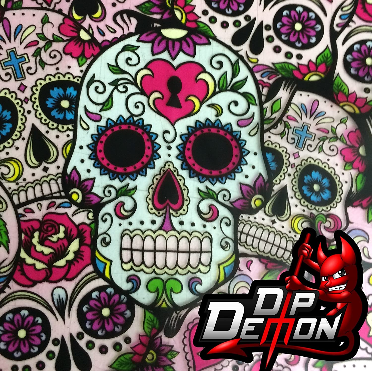 Small Skulls Hydro Dipping ROLLED Hydrographics Film 50cm