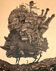 Howl Moving Castle Poster S Ghibli Studio Calcifer Figure Miyazaki Cominica Hayao Wall Art 16x20 Inches