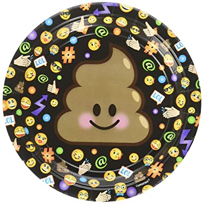 "8 Pack LOL Emoji Cake Dessert 7"" Plates Birthday Party Supplies: Toys & Games"
