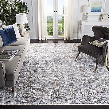 Amazon Com Safavieh Mirage Collection Mir735m Handmade Modern Abstract Wool Viscose Area Rug 5 X 8 Light Blue Grey Furniture Decor