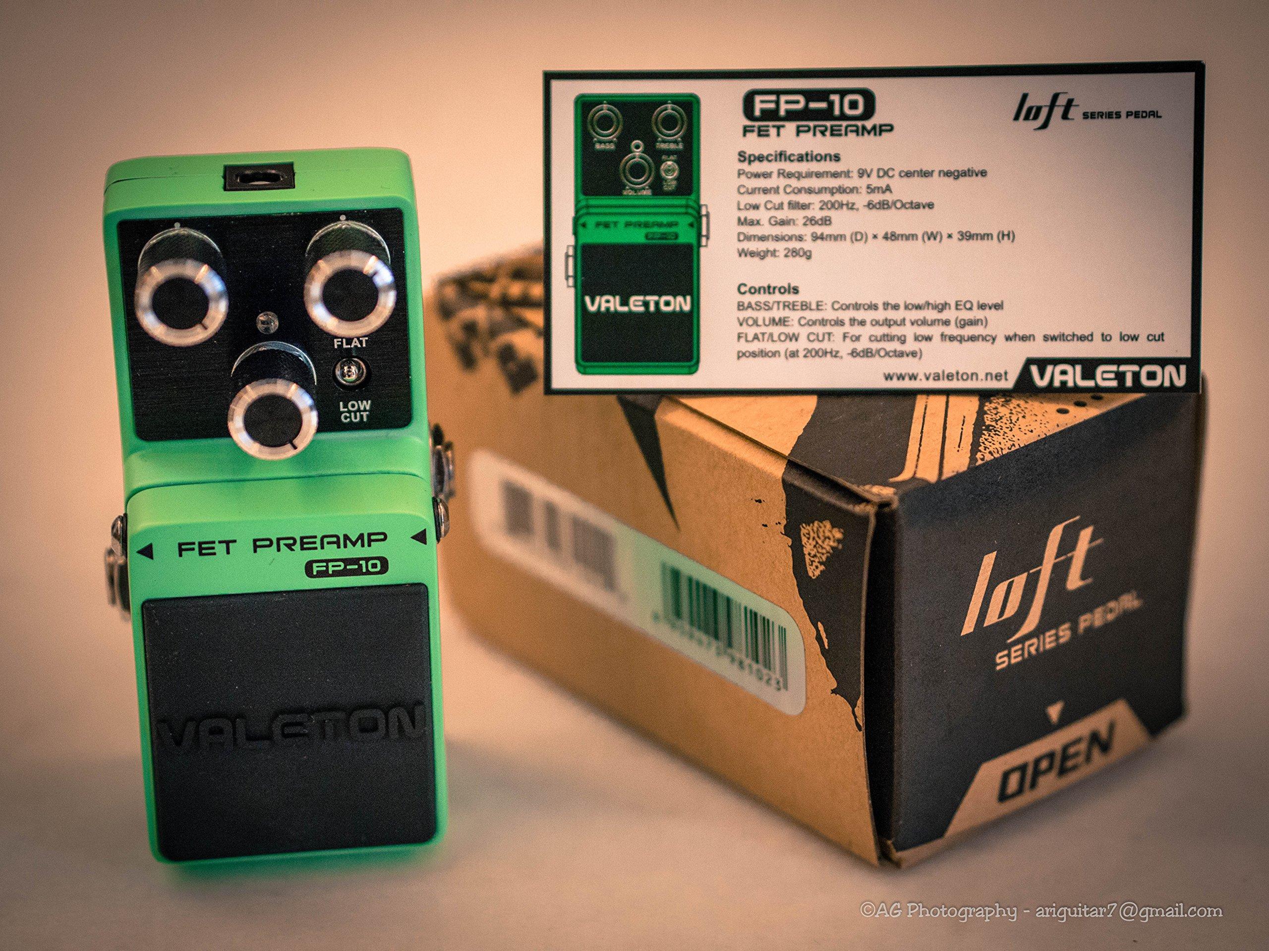 Valeton Loft Series FP-10 FET Preamp Buffer Bypass Guitar Effects Pedal