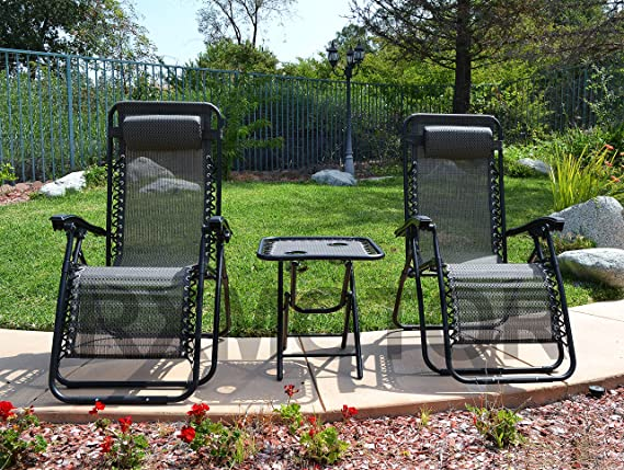Amazon.com: 88Rose Zero Gravity - Juego de 3 sillas de mesa ...