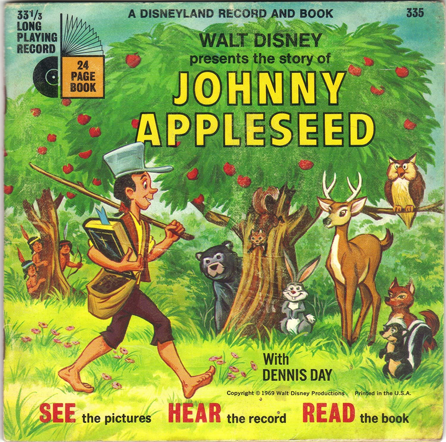 Dennis Day Walt Disney Story Of Johnny Appleseed Book Record Amazon Com Music
