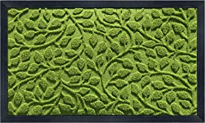 gbHome GH-6824B Premium Antibacterial Door Mat | 24 x 36 inches | Indoor Outdoor Doormat w Anti-Skid Rubber Back | Water Absorbent Entryway Mat | Easy to Clean Bootscaper | Low Profile Entry Mat