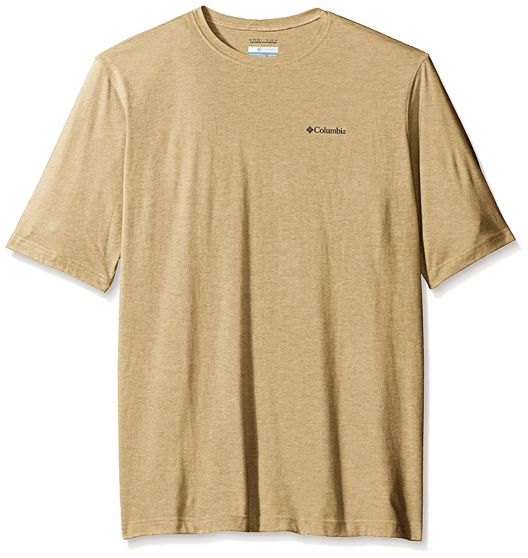 Columbia Men's Big Cullman Crest Short Sleeve Shirt, Lion, Tall/Large