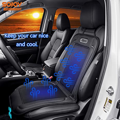 Sojoy NEW Universal Cooling Air Car Fan Seat Cover Cushion 12V Black