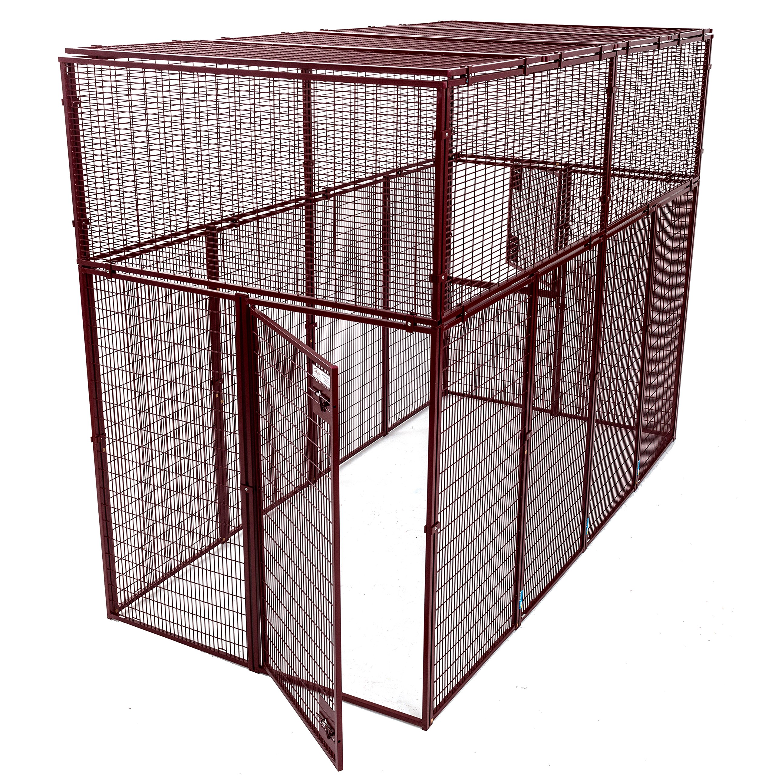 Animal House Large Ultra Heavy Duty Outdoor Protective Kennel (7.5' Hx10'Lx5'W) 244.2 lbs
