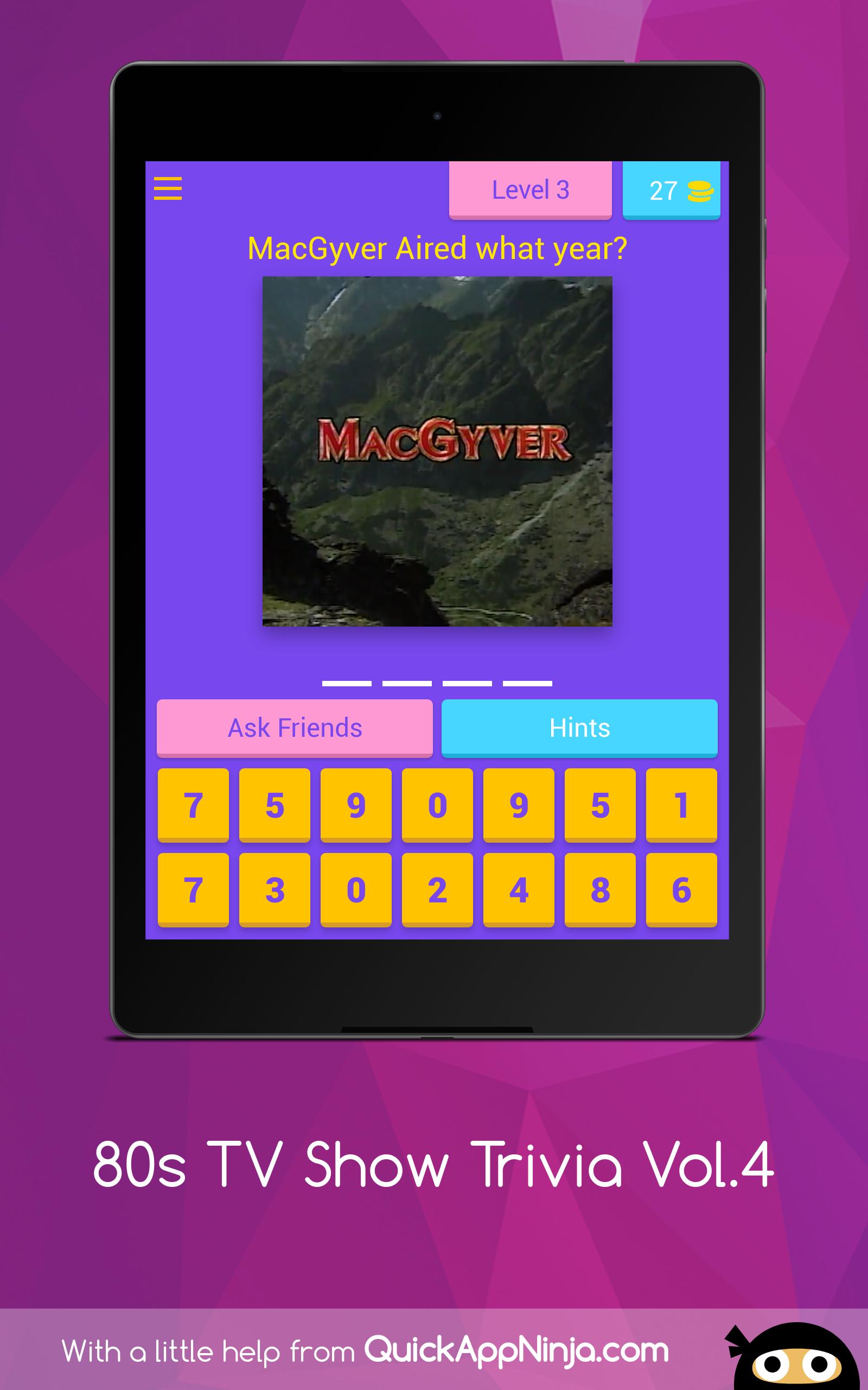 80s TV Show Trivia Vol.4: Amazon.es: Appstore para Android
