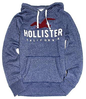 05fdd5b7 Amazon.com: Hollister Men's Logo Graphic Pullover Fleece Hoodie HOM-25:  Clothing