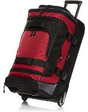 AmazonBasics Ripstop Wheeled Duffel, Red