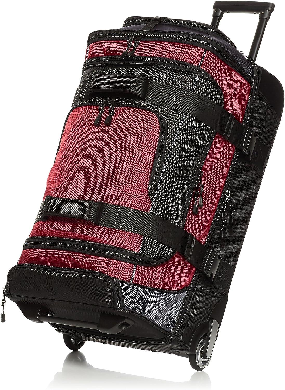 AmazonBasics - Mochila con ruedas de ripstop, 72 cm, 64 litros - Rojo