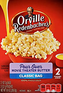 product image for orville redenbacher's Pour Over Movie Theater Butter Microwave Popcorn, 9.9 oz