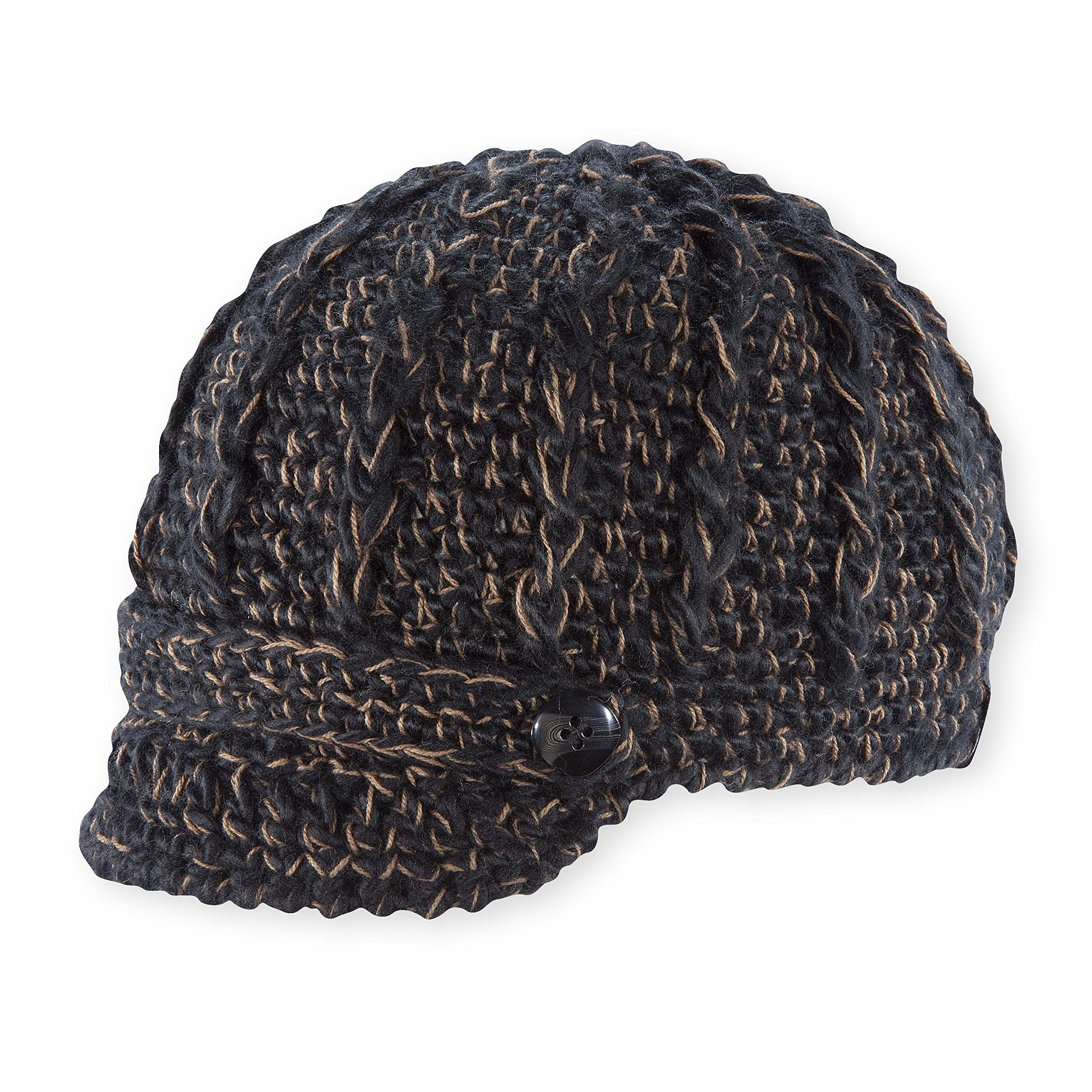 Pistil Women's Clara Knit Brimmed Beanie Hat, Black (1)