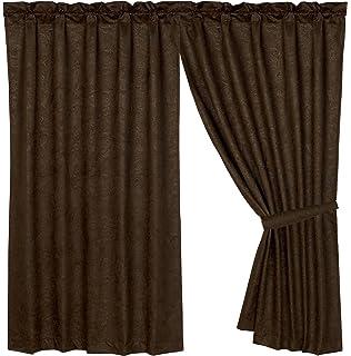 Amazon.com: United Curtain Faux Leather Heavy Window Curtain Panel ...
