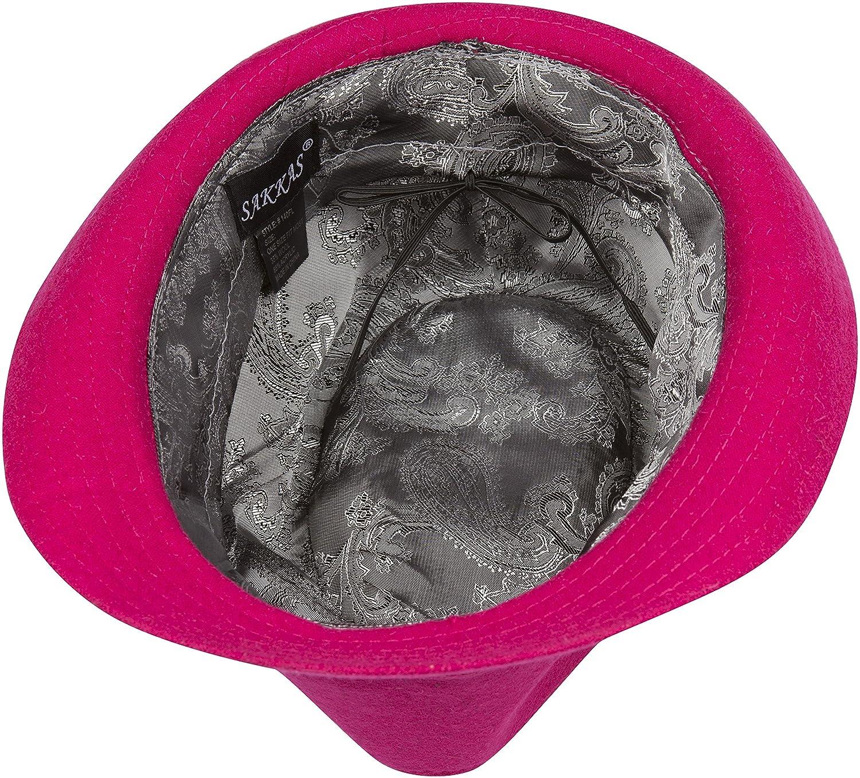 3 Colors Sakkas Unisex Structured Wool Fedora Winter Hat
