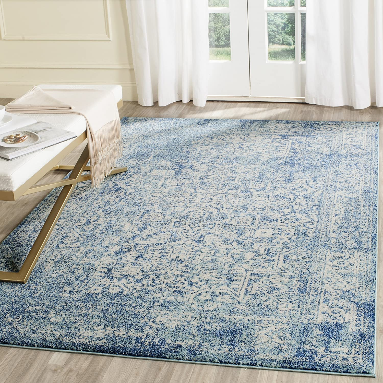 Amazon Com Safavieh Evoke Collection Vintage Oriental Blue And