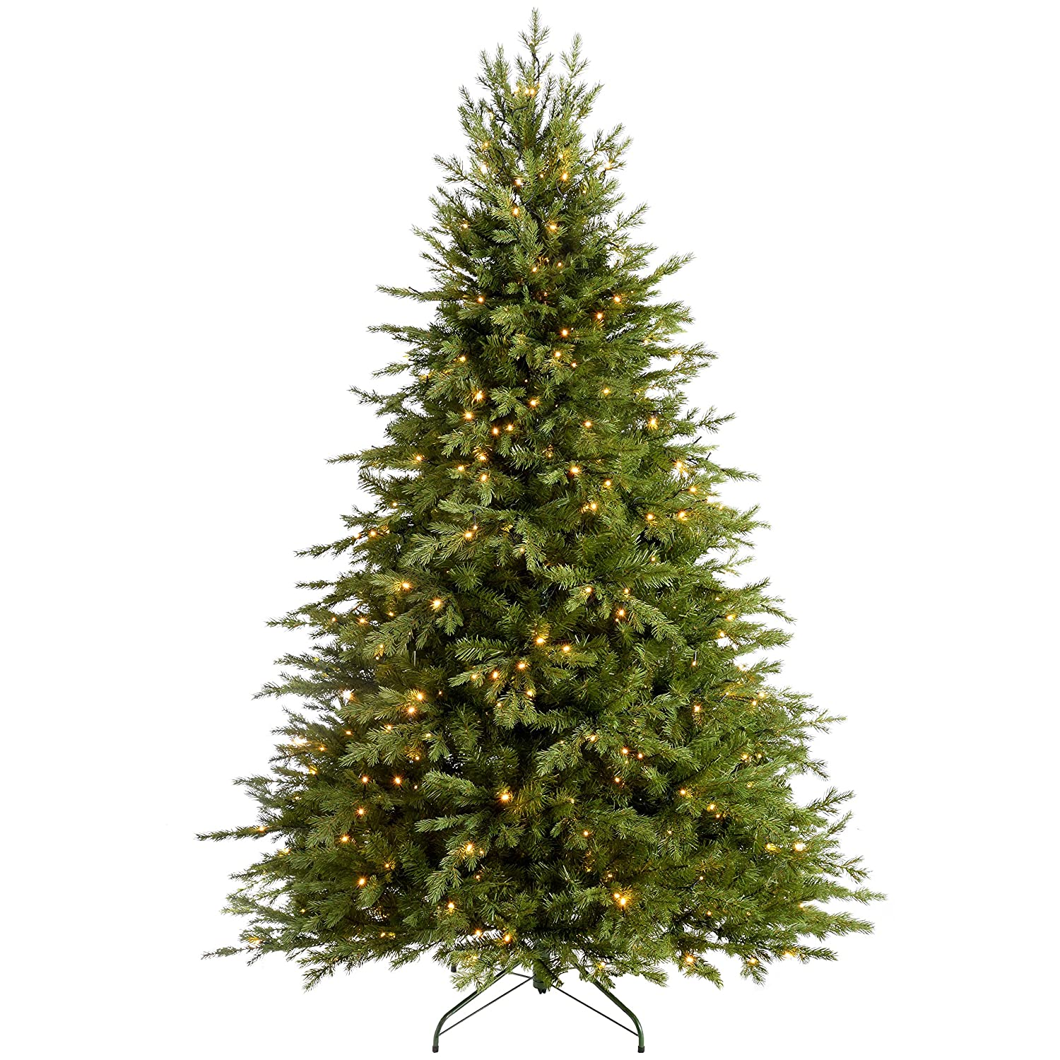 Werchristmas Pre Lit Grand Alaskan Fir Multi Function Christmas Tree With 300 Led