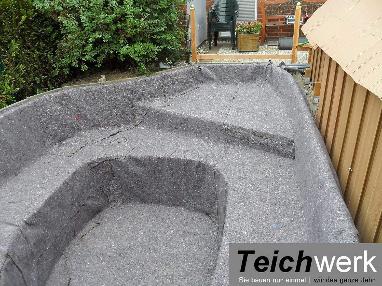 50 qm Teichvlies 300 g/qm   Premium Schutzvlies - 2 m breit x 25 m lang