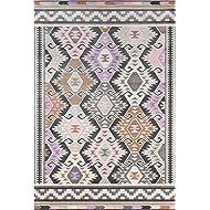 """Novogratz Terrace Collection Boho Holiday Indoor/Outdoor Area Rug, 3'3"""" x 5', Multicolor"""