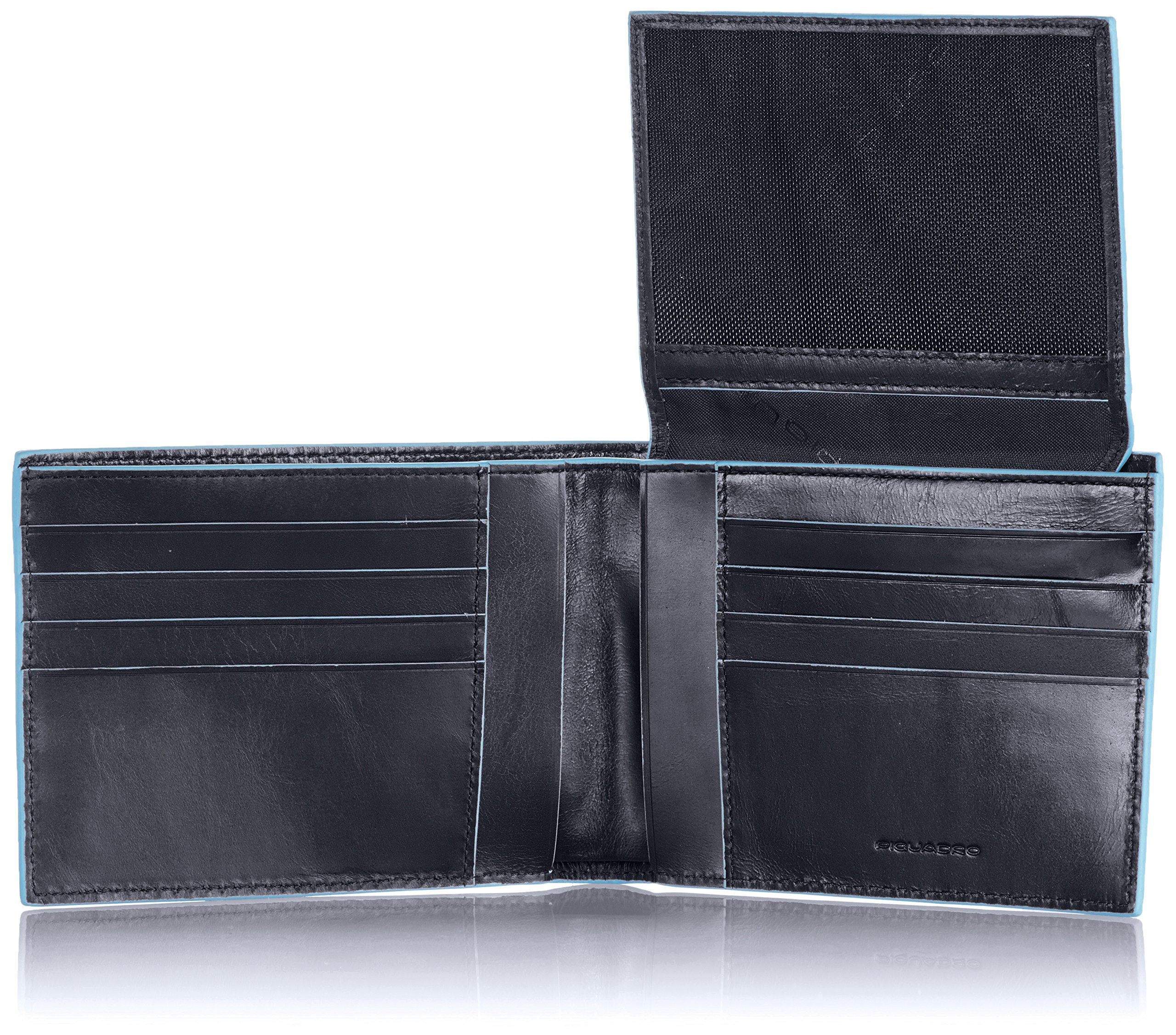Piquadro Man's Wallet In Leather, Black 1517B2, One Size by Piquadro