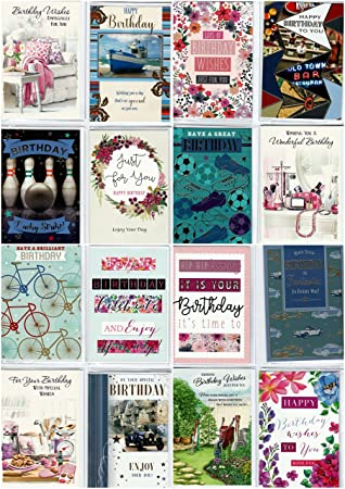 30 Assorted Design Birthday Greeting Cards A Greetingles Wholesale