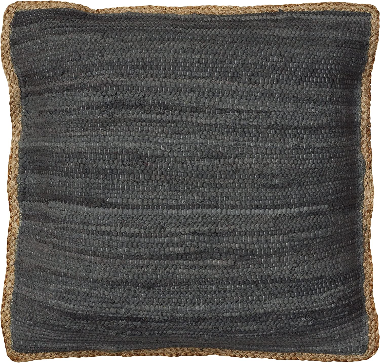 "LR Resources PILLO07281DGYFFPL Riley Anthracite Throw Pillow 20"" x 20"" Dark Grey"