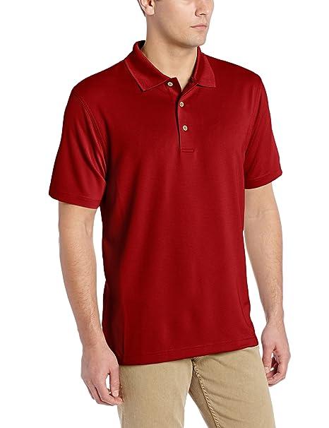 e9f9207bd Cubavera Men's Essential Textured Performance Polo Shirt, Biking Red, Small