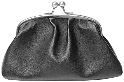 Cathys Concepts Personalized Vintage Clutch with Survival Kit, Black/Silver, Letter E