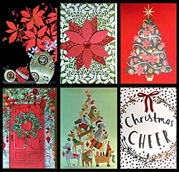 papyrus 334569 multi color unique variety christmas cards holiday note card set w - Unique Photo Christmas Cards