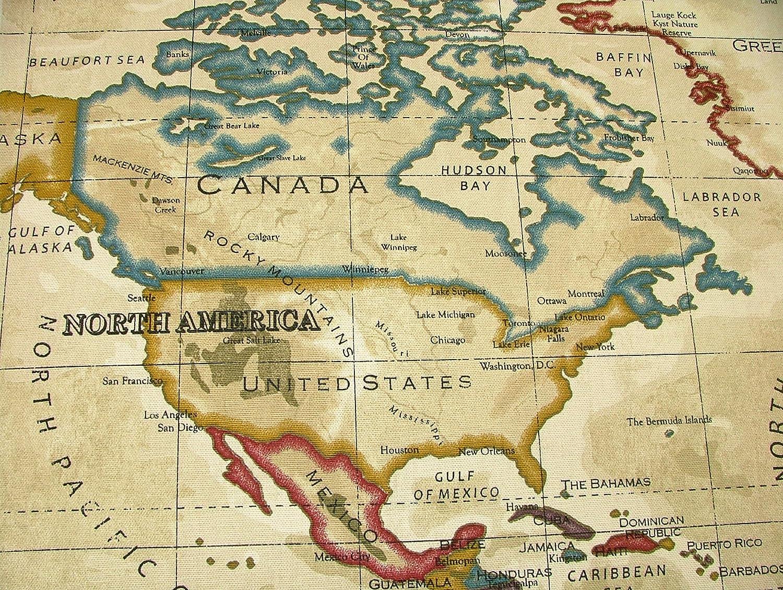Amazon prestigious atlas world map antique designer curtain amazon prestigious atlas world map antique designer curtain upholstery fabric by the metre by prestigious kitchen dining gumiabroncs Choice Image