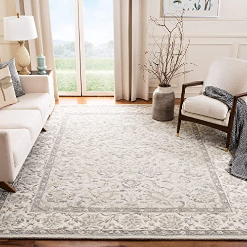Safavieh Glamour Collection GLM628M Light Blue and Ivory 9 x 12 Area Rug