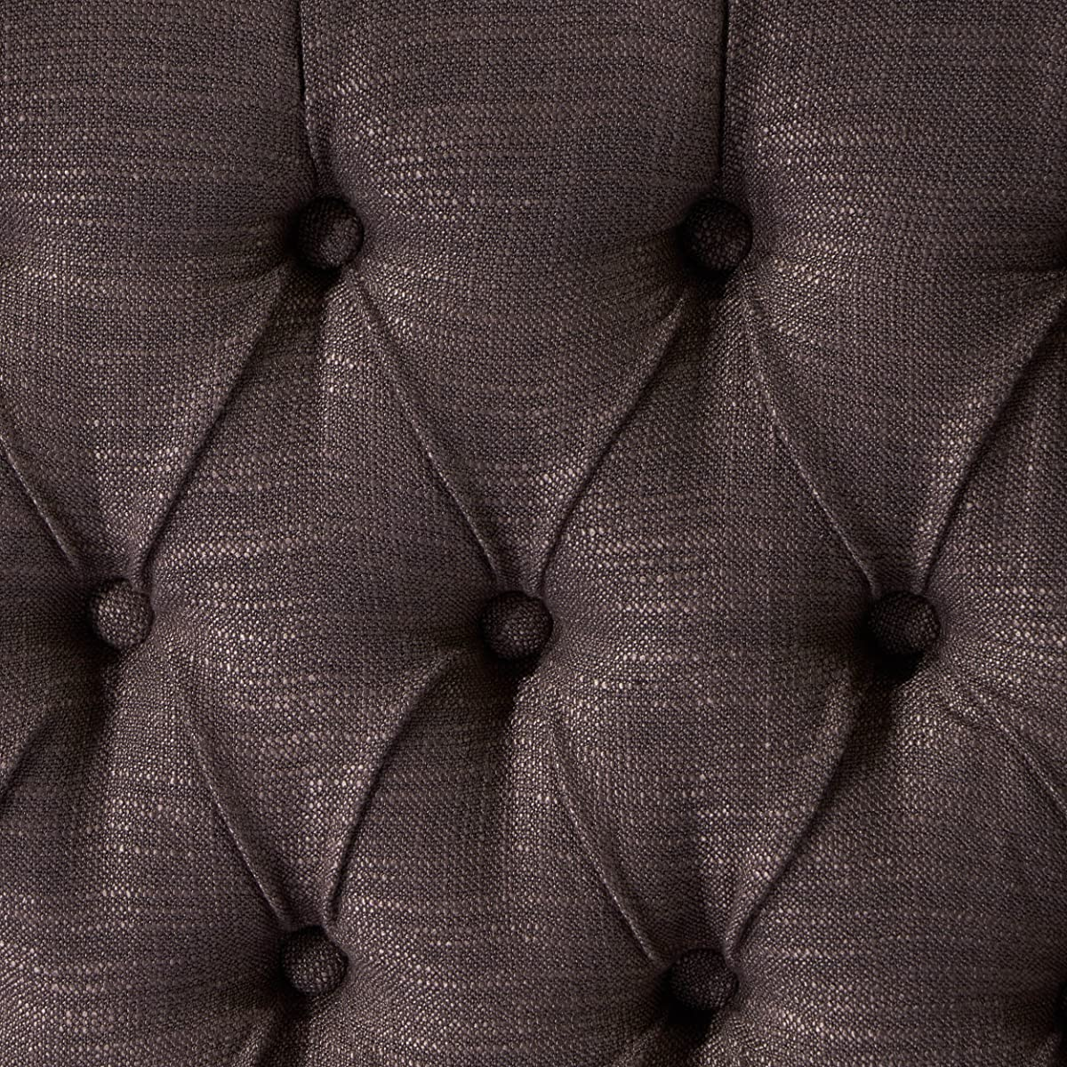 Great Deal Furniture Hempstead Wingback Queen to Full Brown Fabric Headboard