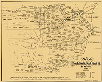 Amazon.com: MAPS OF THE PAST Missouri Southern Pacific ...