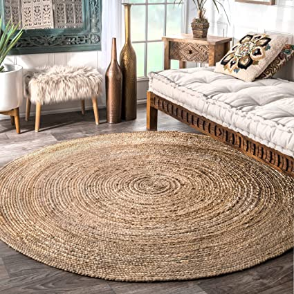 Remarkable Nuloom Handwoven Rigo Jute Rug 6 Round Natural Download Free Architecture Designs Rallybritishbridgeorg
