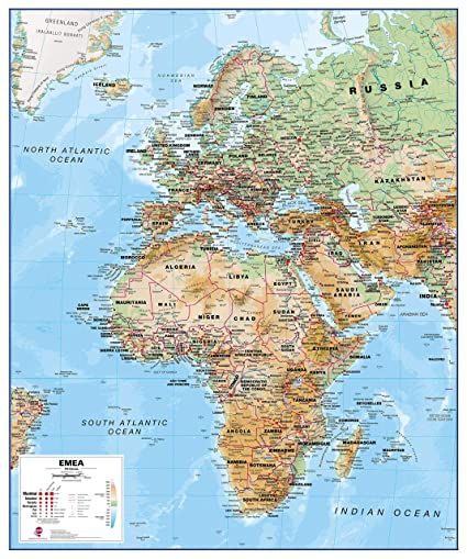 Amazon.com : Maps International Physical Europe Middle East ...