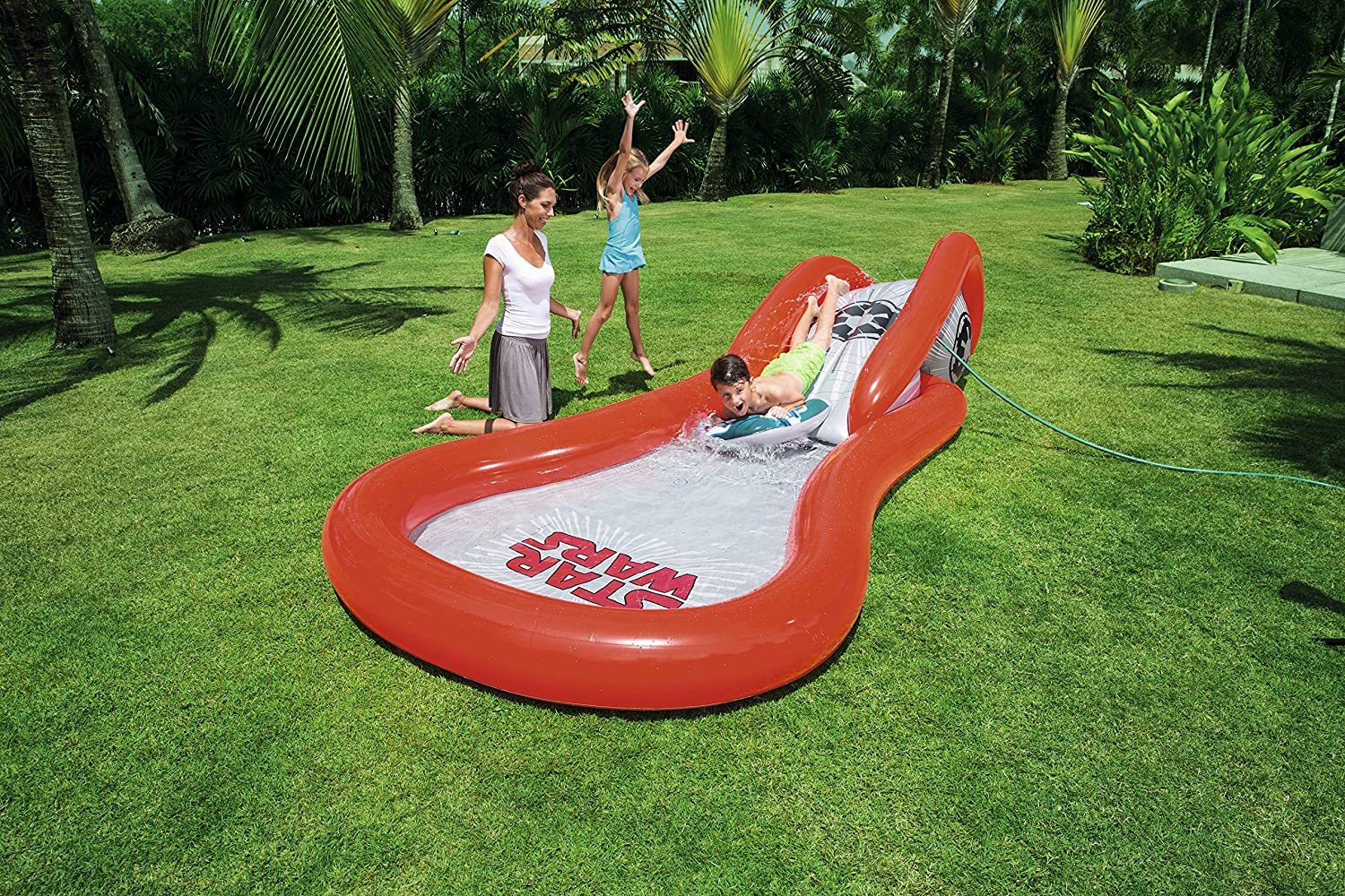 Piscina Hinchable Infantil con Tobogán Bestway Star Wars: Amazon ...