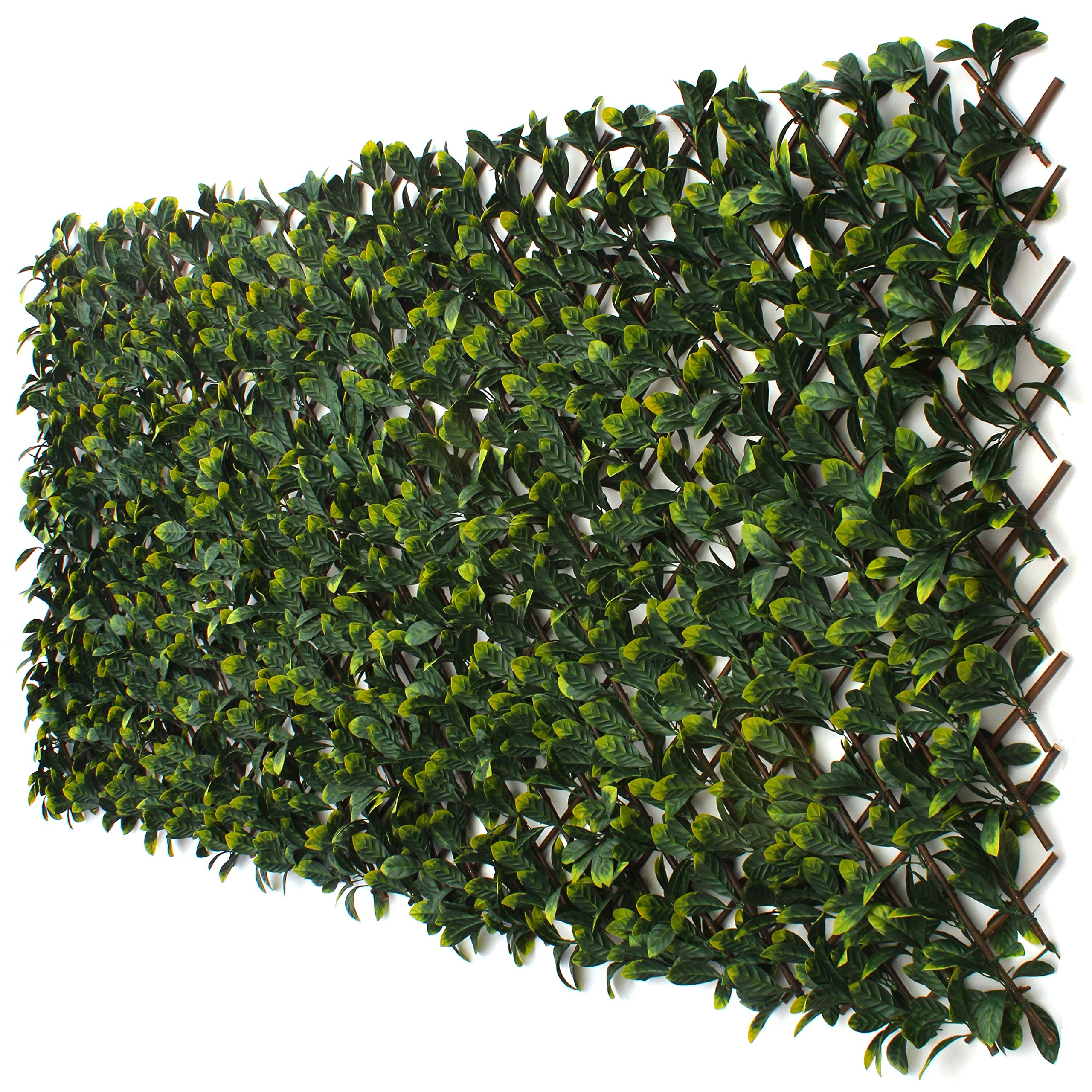 3rd Street Inn Laurel Leaf Trellis 1-Pack - Bamboo Greenery Panel - Boxwood and Ivy Privacy Fence Substitute - DIY Flexible Fencing