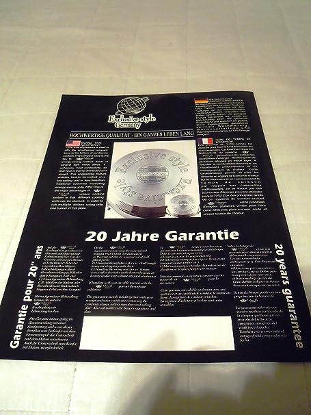 16 piezas de calidad SUPERIOR AUS MEISTERHAND CHROMSTAHL exclusivo estilo alemán de cocina regulado termo: Amazon.es: Hogar